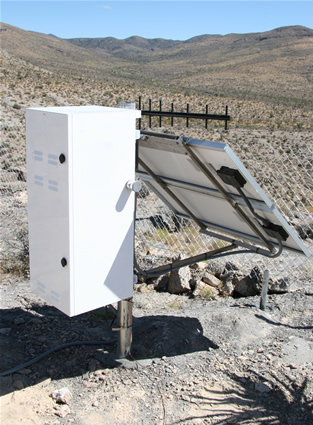 SunWize enclosure as used in the Plate Boundary Observatory and in